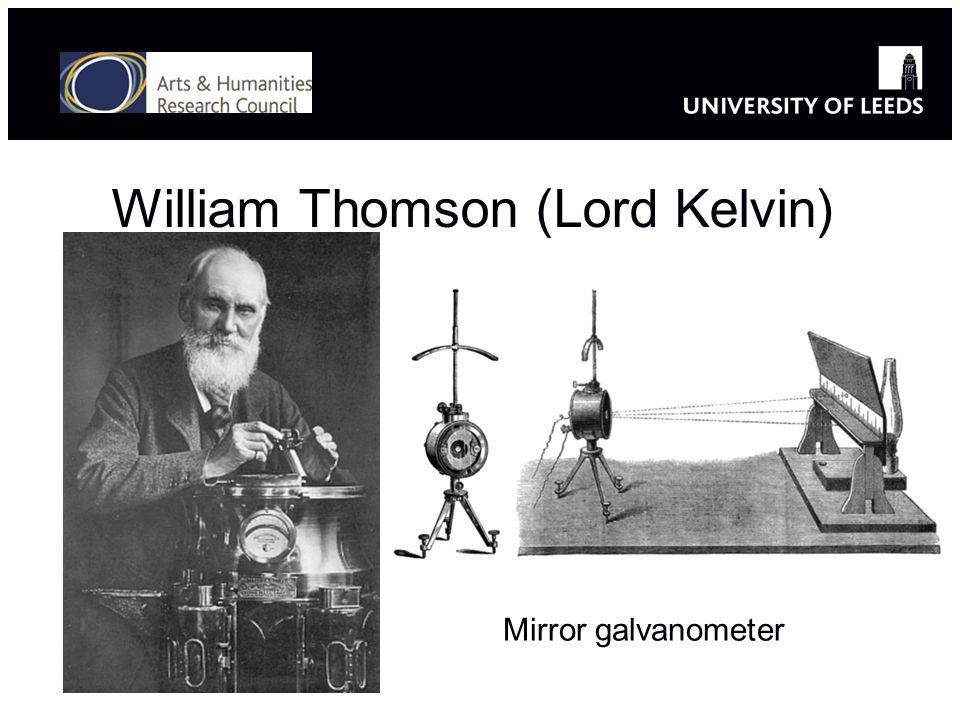 William Thomson (Lord Kelvin) Mirror galvanometer