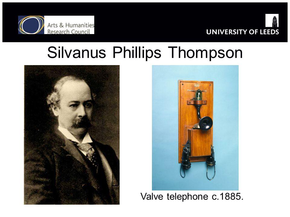 Silvanus Phillips Thompson Valve telephone c.1885.