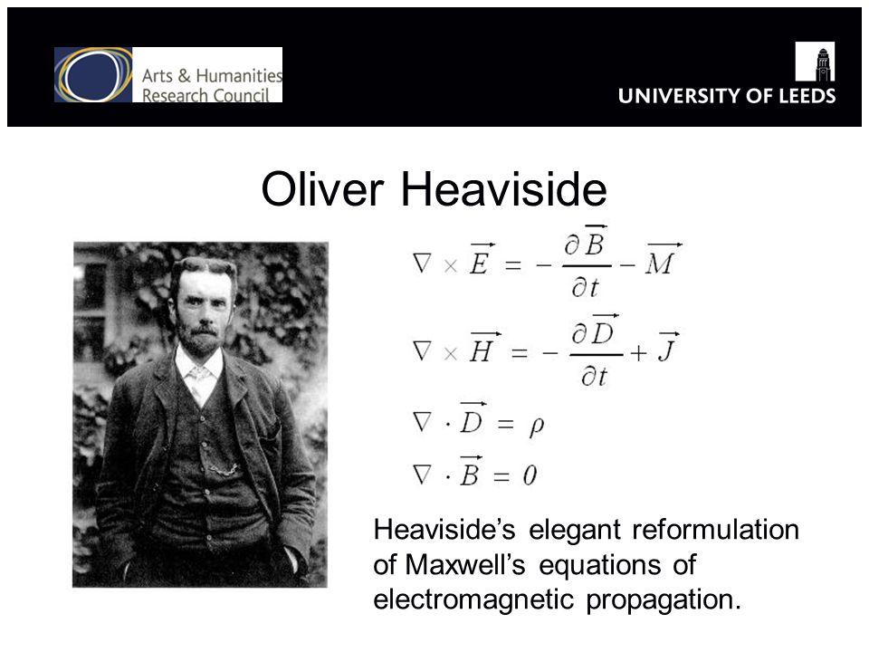 Oliver Heaviside Heavisides elegant reformulation of Maxwells equations of electromagnetic propagation.