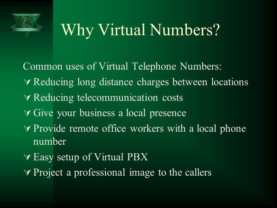 Why Virtual Numbers.