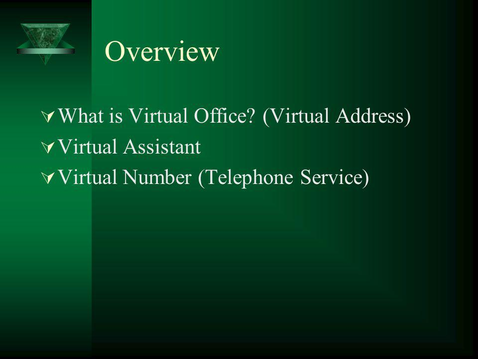 Overview What is Virtual Office.