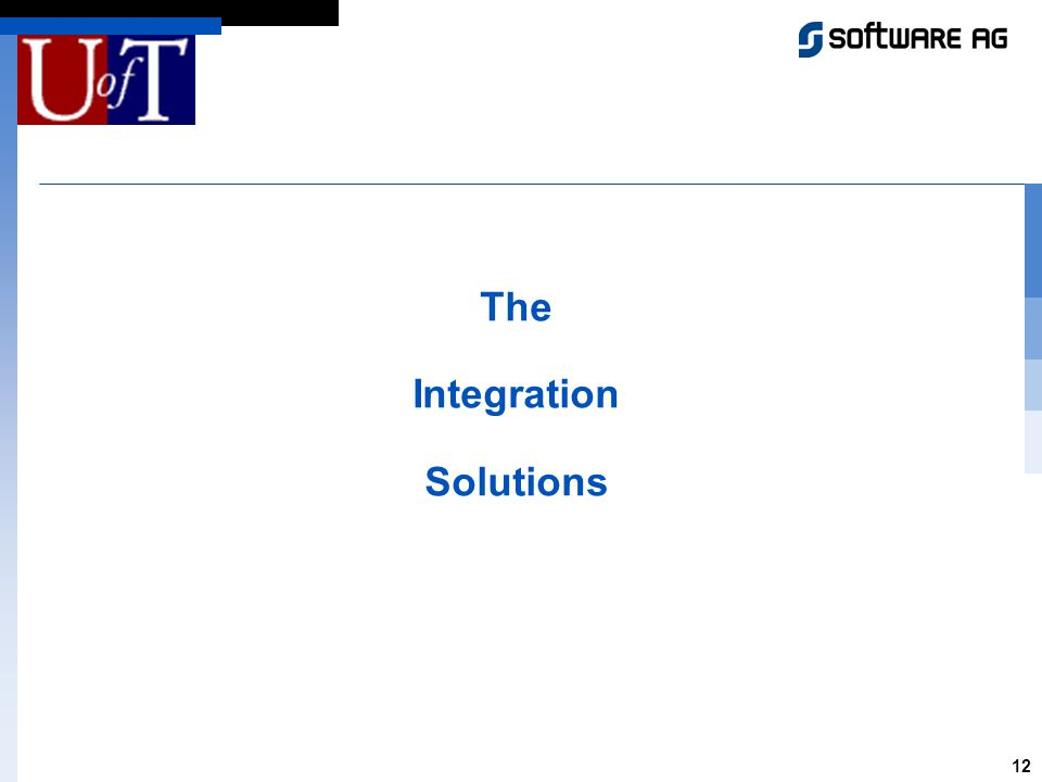 12 The Integration Solutions