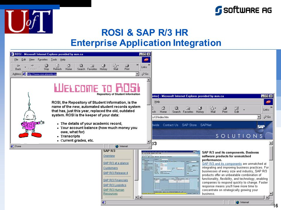 16 ROSI & SAP R/3 HR Enterprise Application Integration