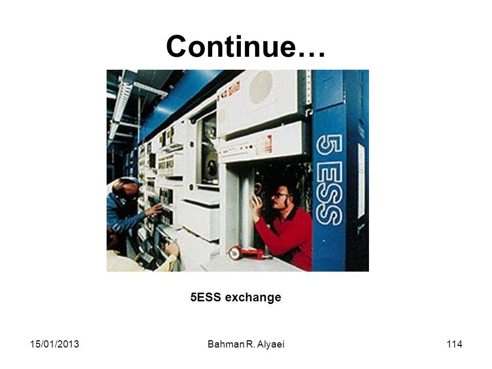 15/01/2013Bahman R. Alyaei114 Continue… 5ESS exchange