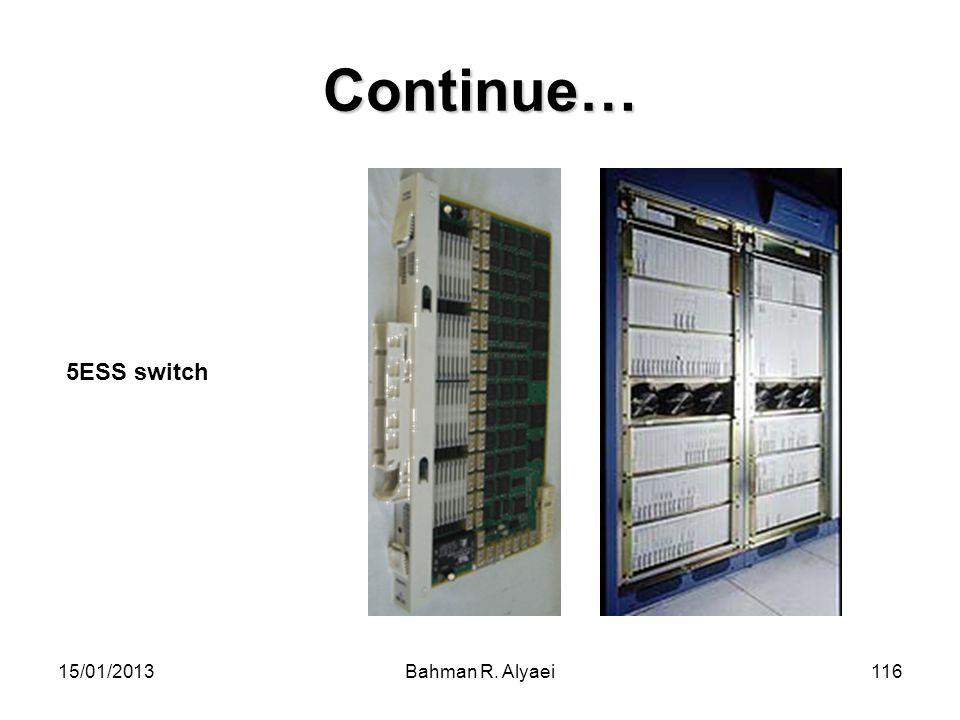 15/01/2013Bahman R. Alyaei116 Continue… 5ESS switch