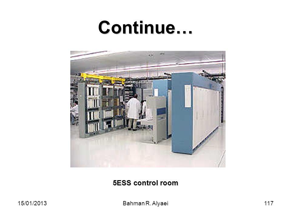 15/01/2013Bahman R. Alyaei117 Continue… 5ESS control room