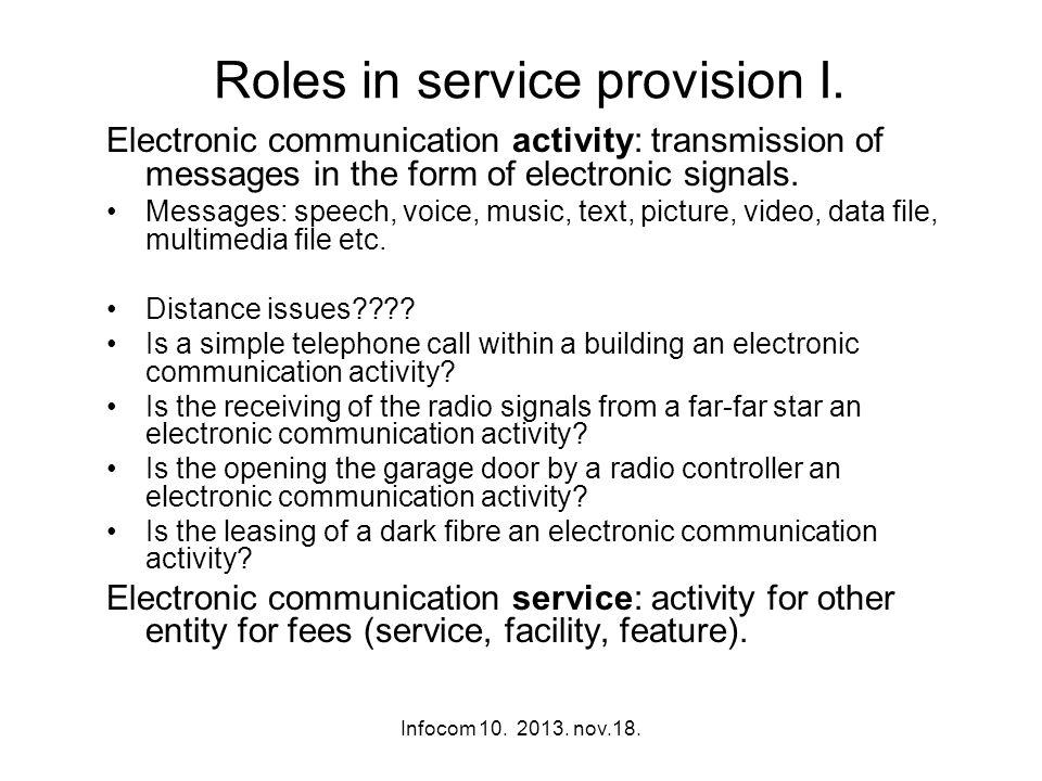 Infocom 10. 2013. nov.18. Roles in service provision I.