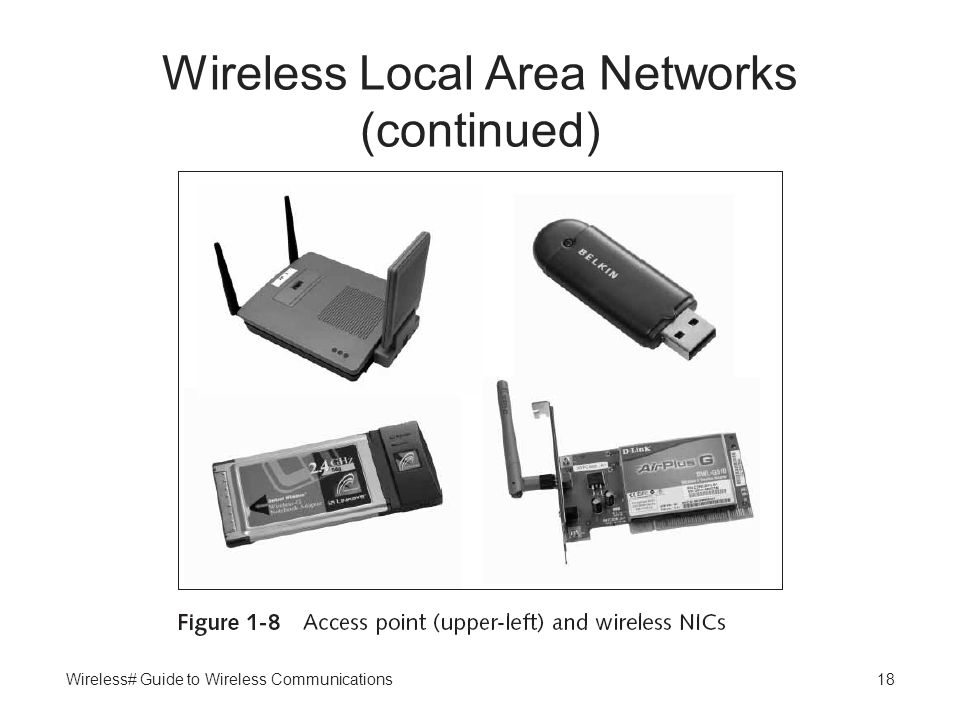 Wireless# Guide to Wireless Communications18 Wireless Local Area Networks (continued)