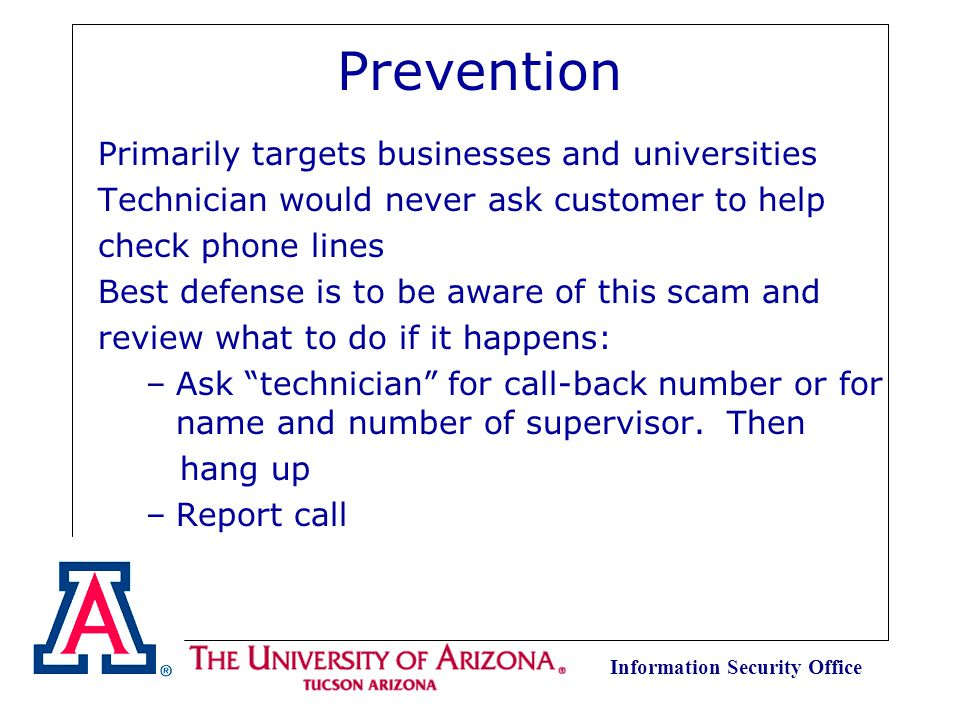 Information Security Office Telephone Fraud Protection Memorize calling card number.