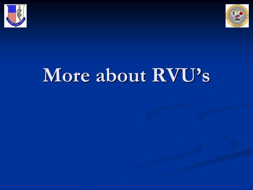 More about RVUs