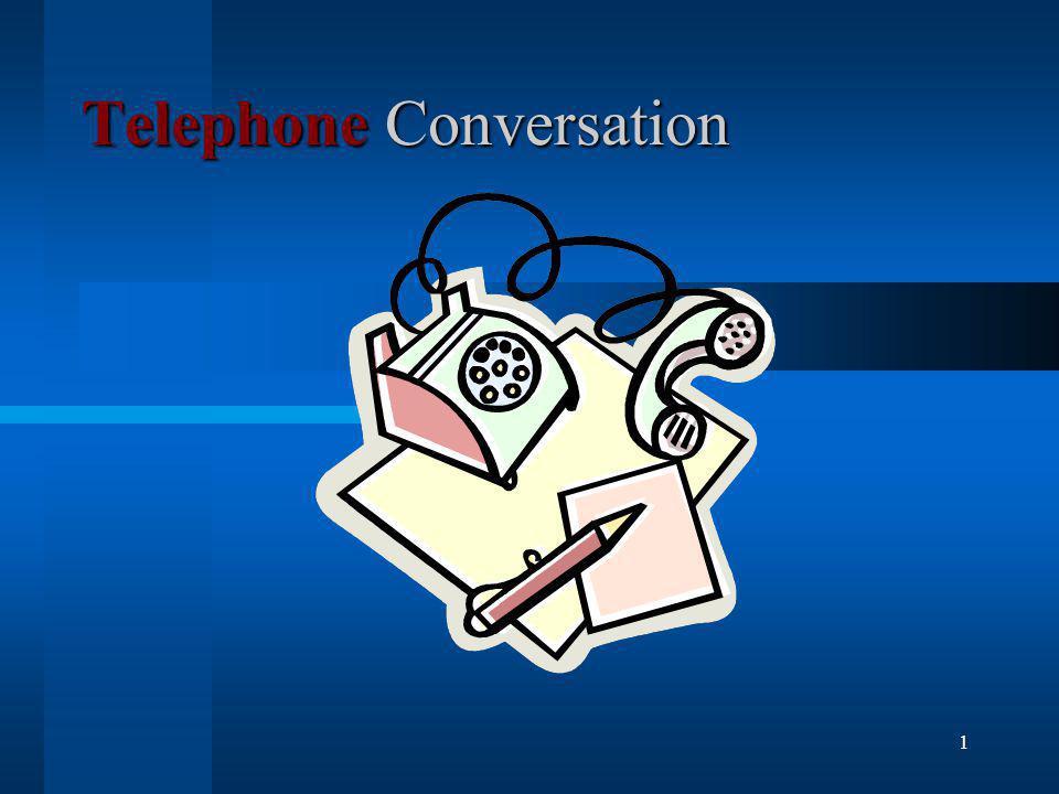 1 Telephone Conversation