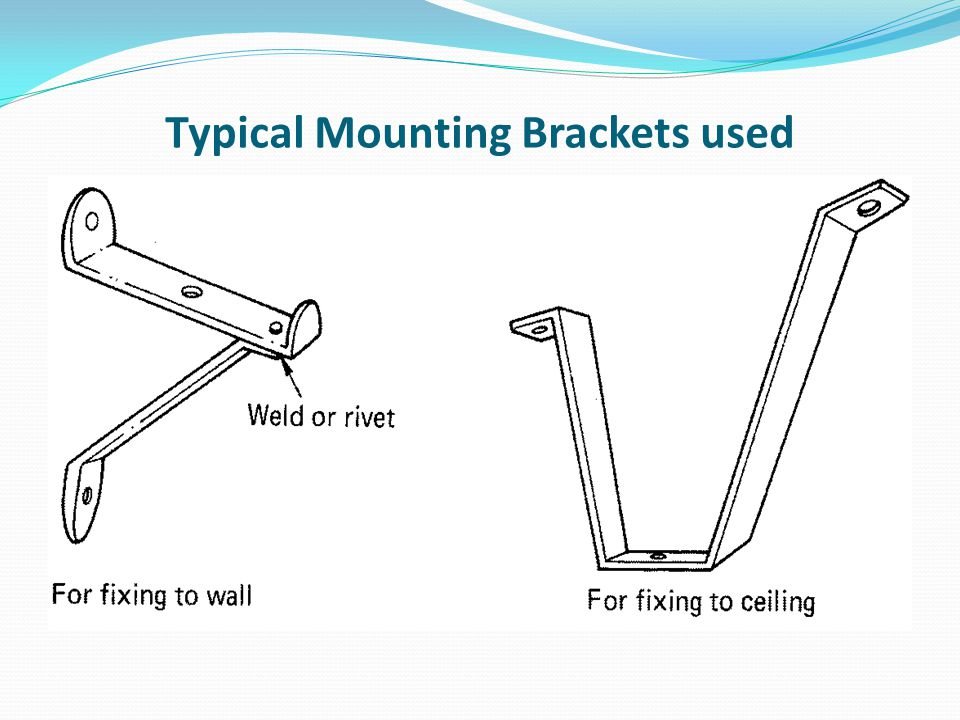 Typical Mounting Brackets used