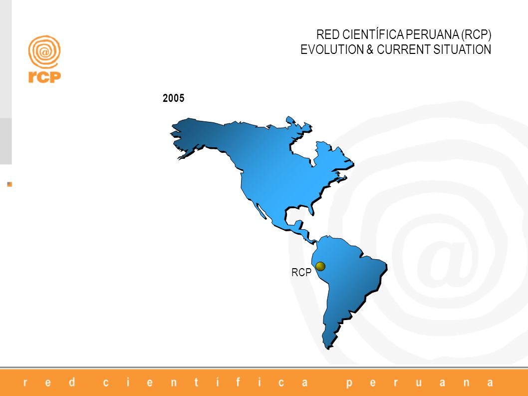 RED CIENTÍFICA PERUANA (RCP) EVOLUTION & CURRENT SITUATION 2005 RCP