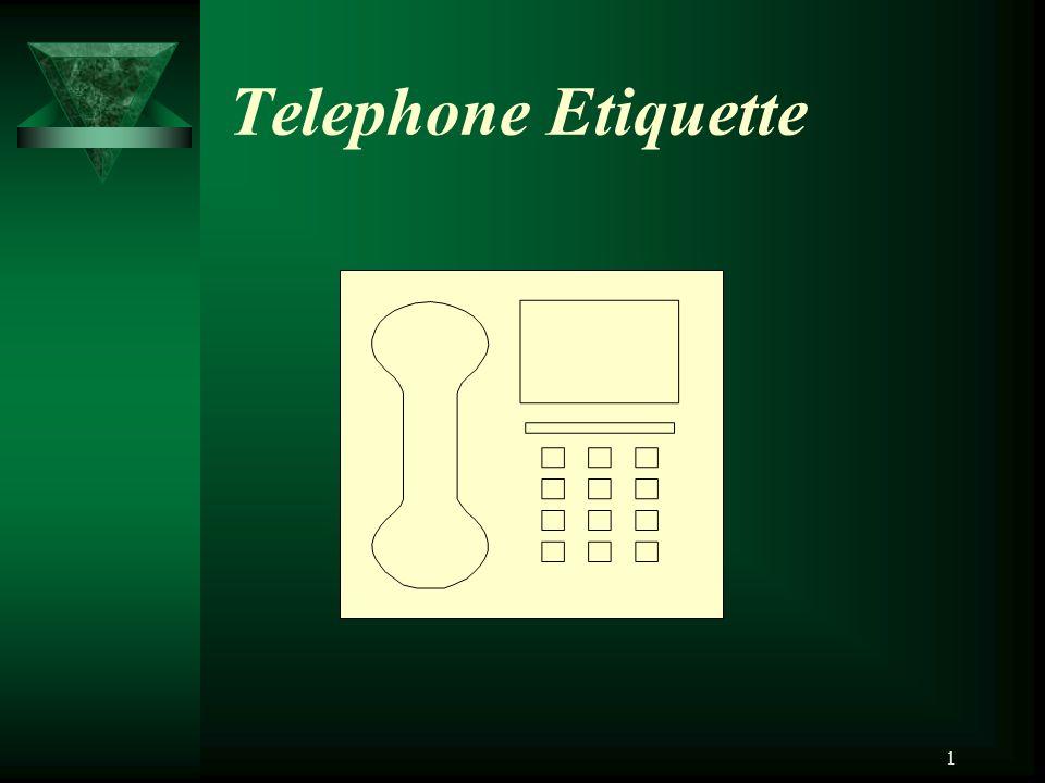 1 Telephone Etiquette