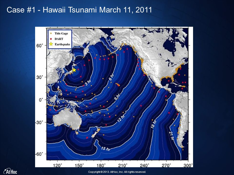 Copyright © 2013. AtHoc, Inc. All rights reserved. Case #1 - Hawaii Tsunami March 11, 2011
