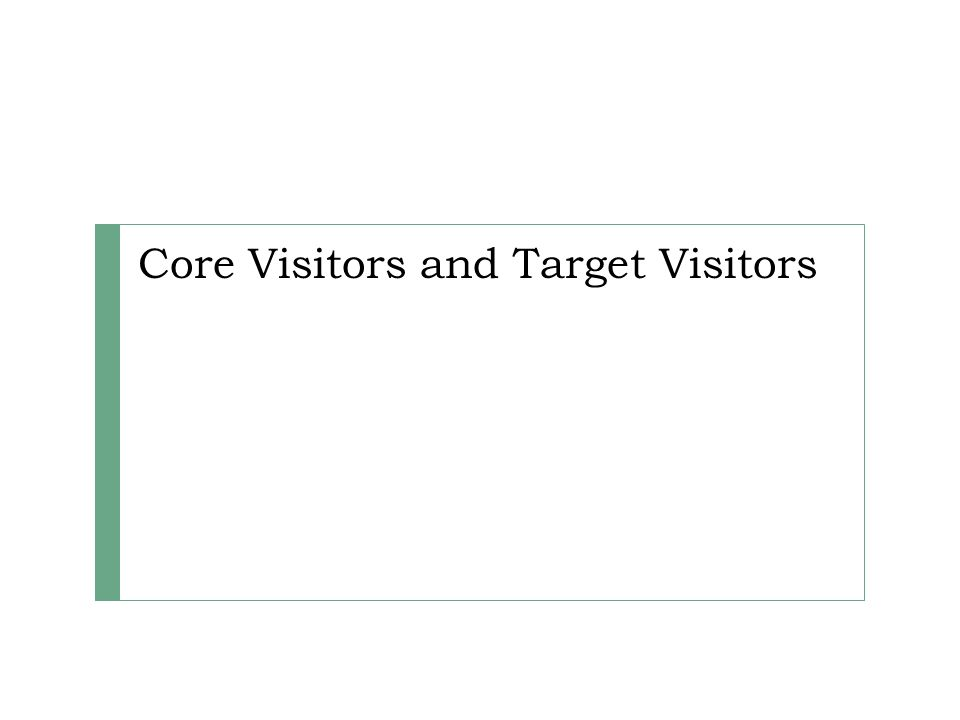 Core Visitors and Target Visitors