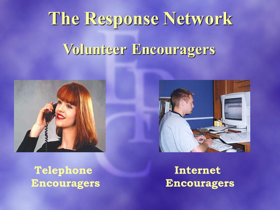 The Response Network Volunteer Encouragers Telephone Encouragers Internet Encouragers