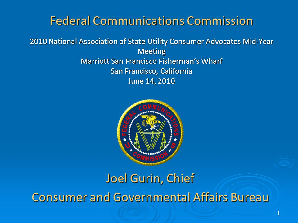 2 FCC Mission and Goals Independent federal agency charged with regulating interstate and international communications by radio, radio, television, wire, satellite and cableIndependent federal agency charged with regulating interstate and international communications by radio, radio, television, wire, satellite and cable Strategic Goals for 2010 and BeyondStrategic Goals for 2010 and Beyond BroadbandBroadband ConsumersConsumers Competition and InnovationCompetition and Innovation Continual ImprovementContinual Improvement Public Safety and Homeland SecurityPublic Safety and Homeland Security InternationalInternational