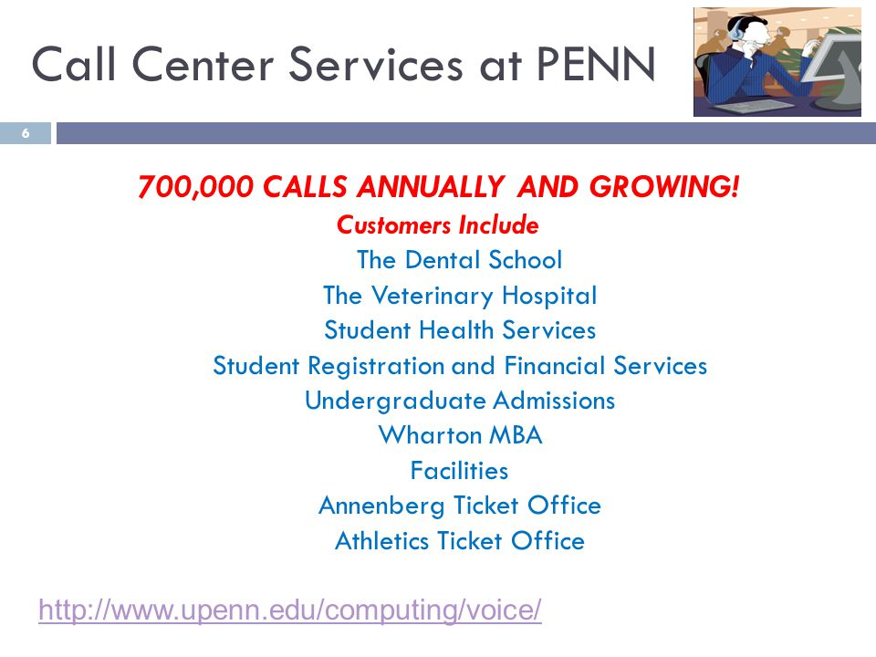 6 700,000 CALLS ANNUALLY AND GROWING.