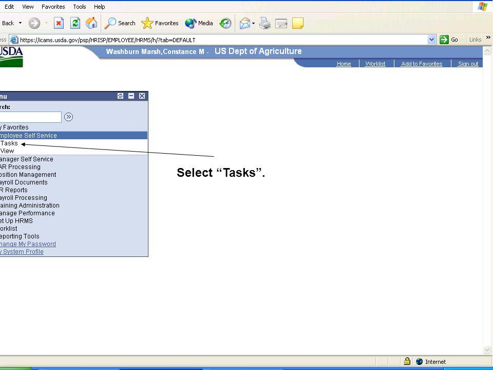 Select Tasks.