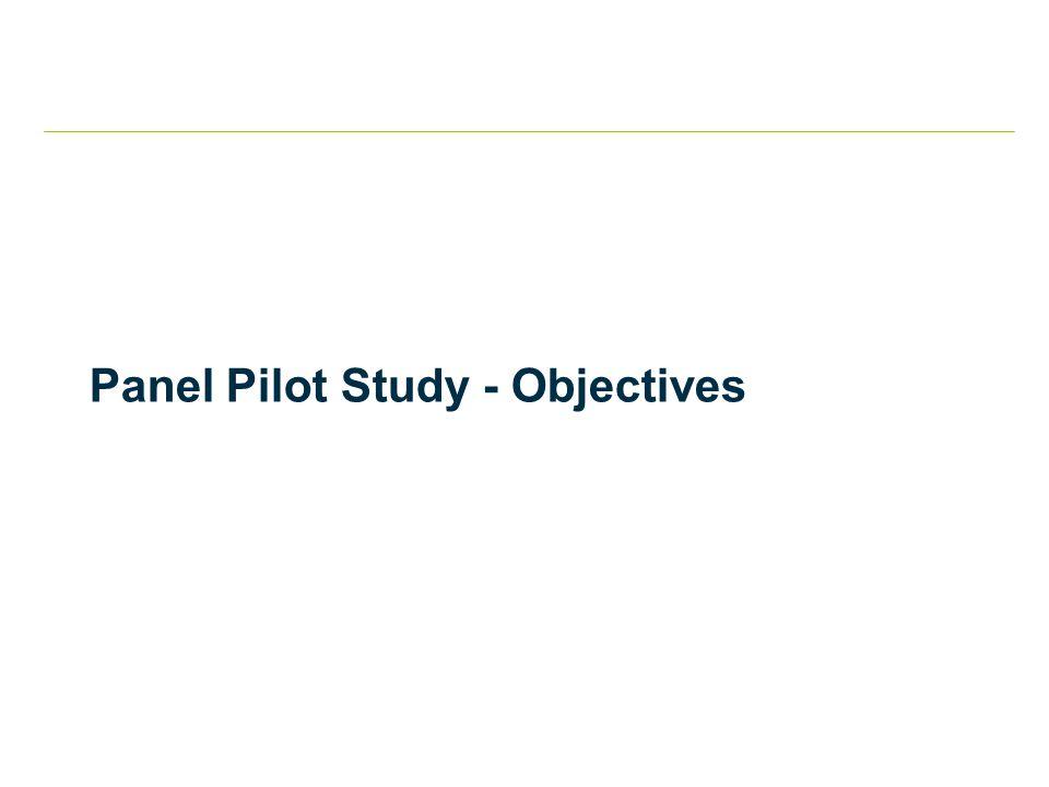 Panel Pilot Study - Objectives