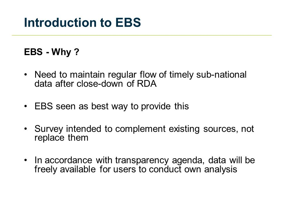 Introduction to EBS EBS - Who.
