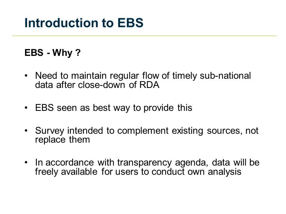 EBS - Why .