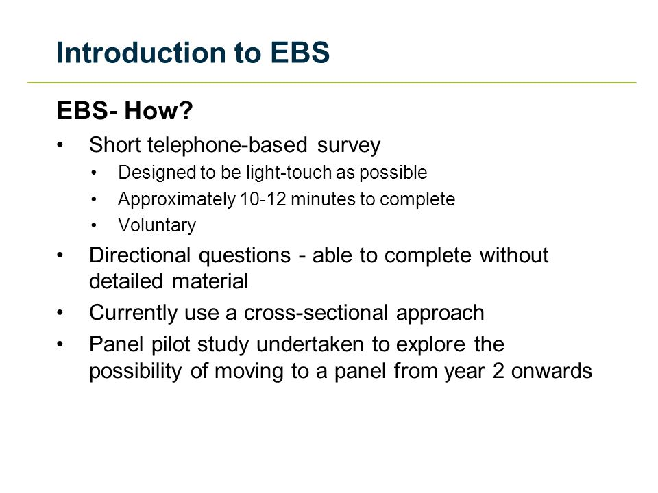 Introduction to EBS EBS- How.