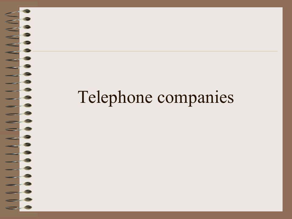 Telephone companies