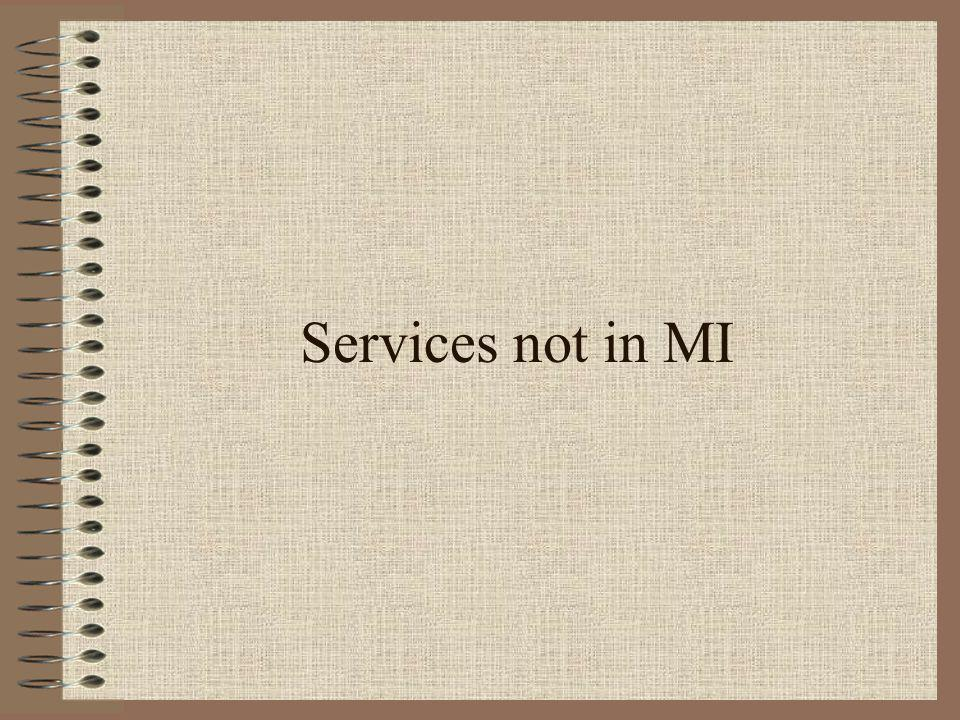 Services not in MI