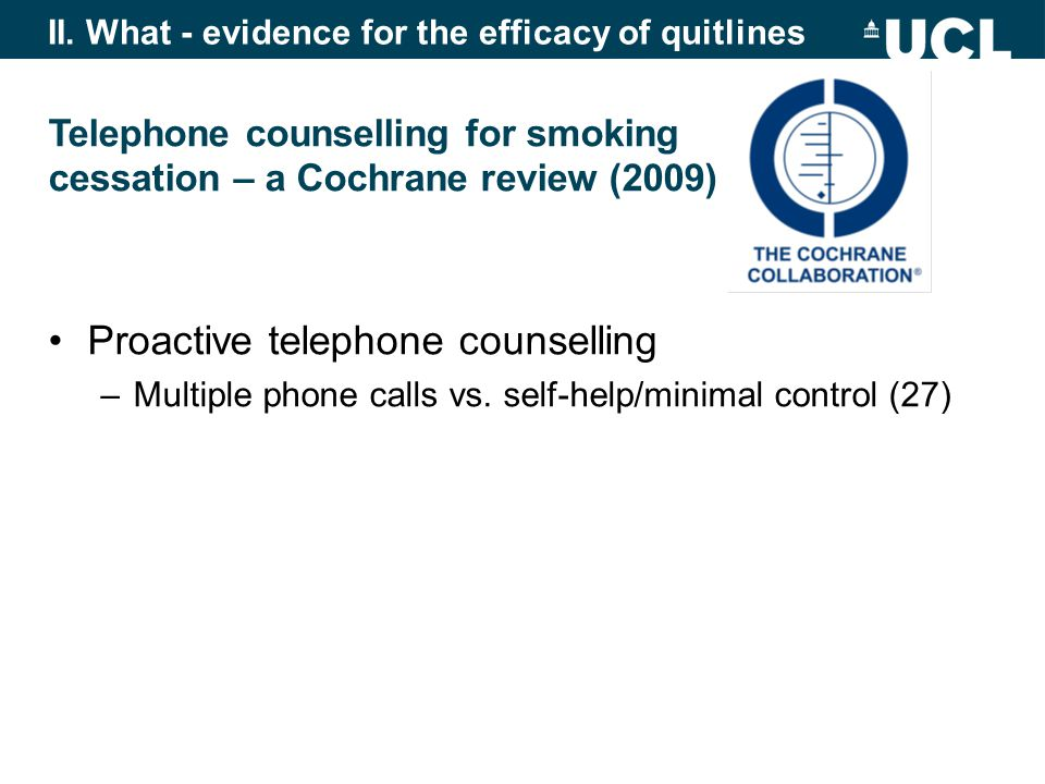 Proactive telephone counselling –Multiple phone calls vs.
