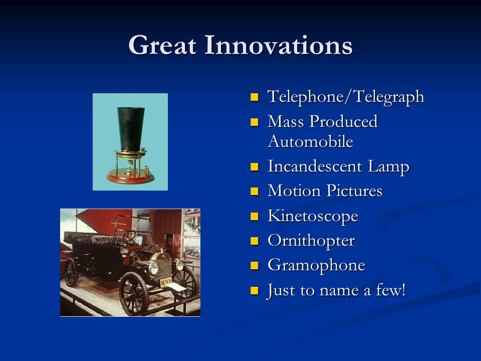 Technological Innovations Between 1876-1920 Margaret Peach Houston Elementary School