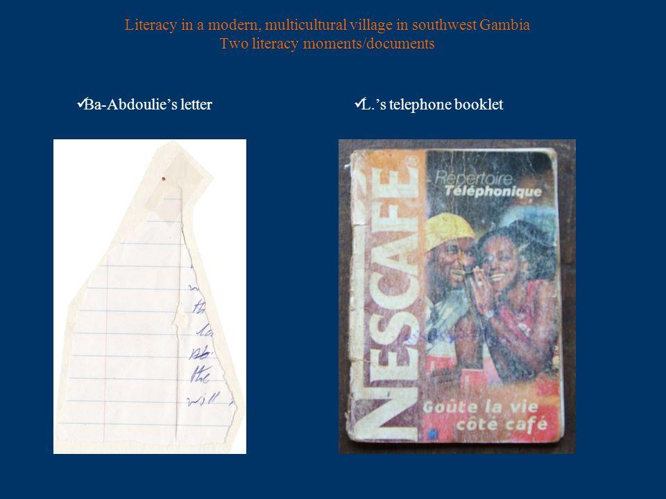 the Nescafé telephone booklet [16, 17]
