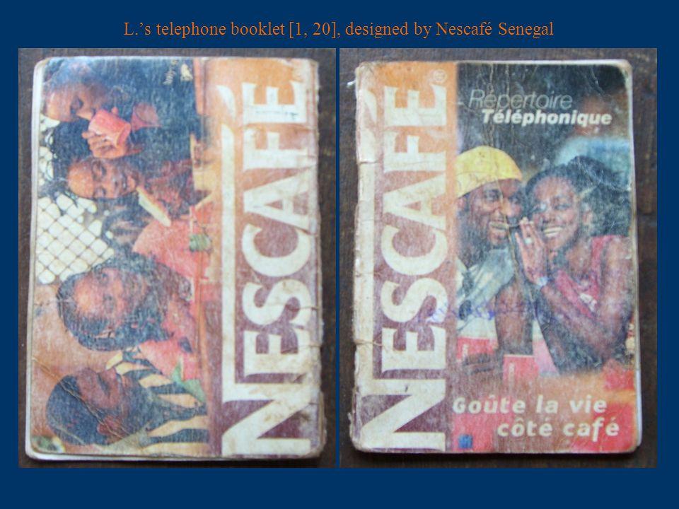 the Nescafé telephone booklet [2, 3]