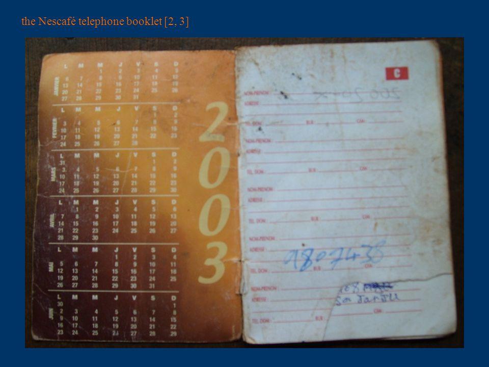 the Nescafé telephone booklet [4, 5]