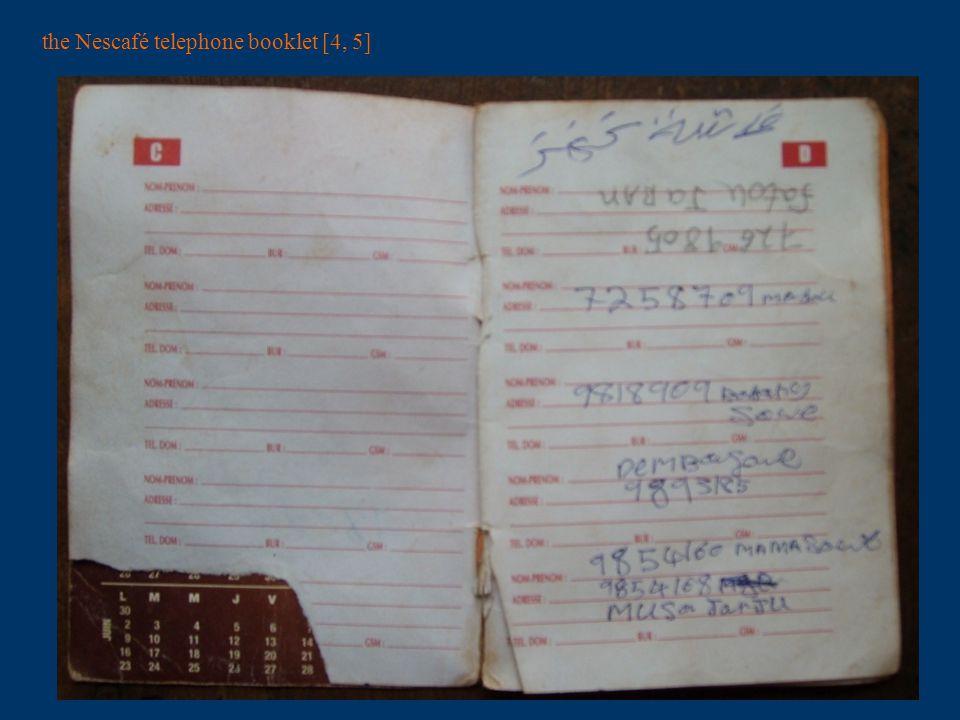 the Nescafé telephone booklet [6, 7]