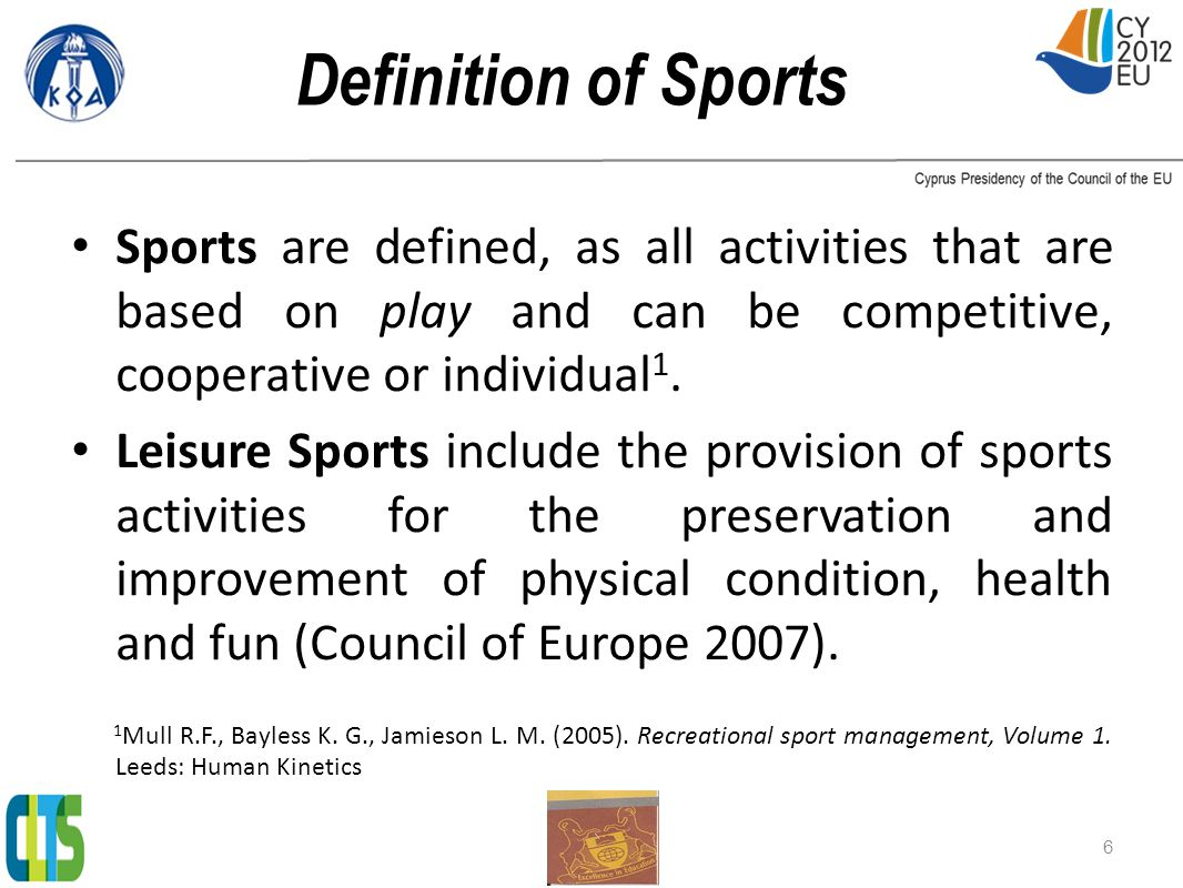 Conclusions from Desk Survey (1) Cyprus has the necessary structure, infrastructure and institutions that can support Social, Leisure and Grassroots Sports.