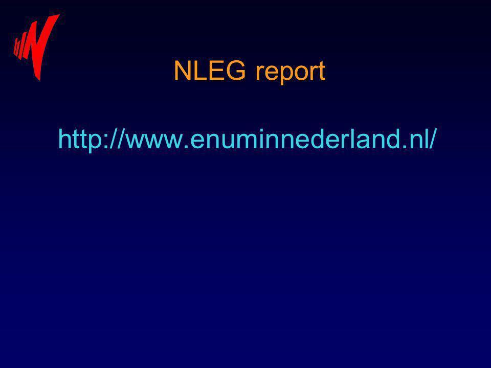 NLEG report http://www.enuminnederland.nl/