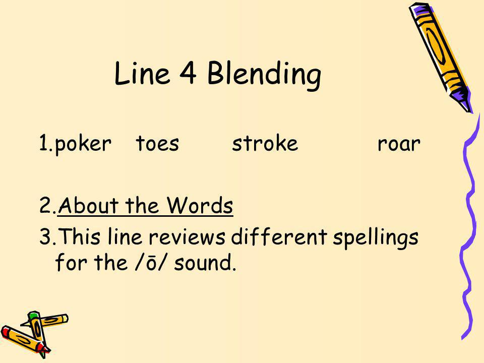 Line 3 Blending 1.greedyshinysleepyshady 2.About the Words 3.These words all end with the /ē/ sound spelled _y.