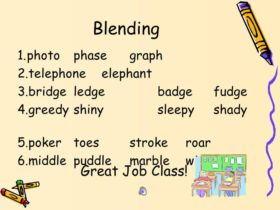 Line 5 Blending 1.middlepuddlemarblewiggle 2.About the Words 3.Some of these words end with le and some have short vowel sounds with double consonants