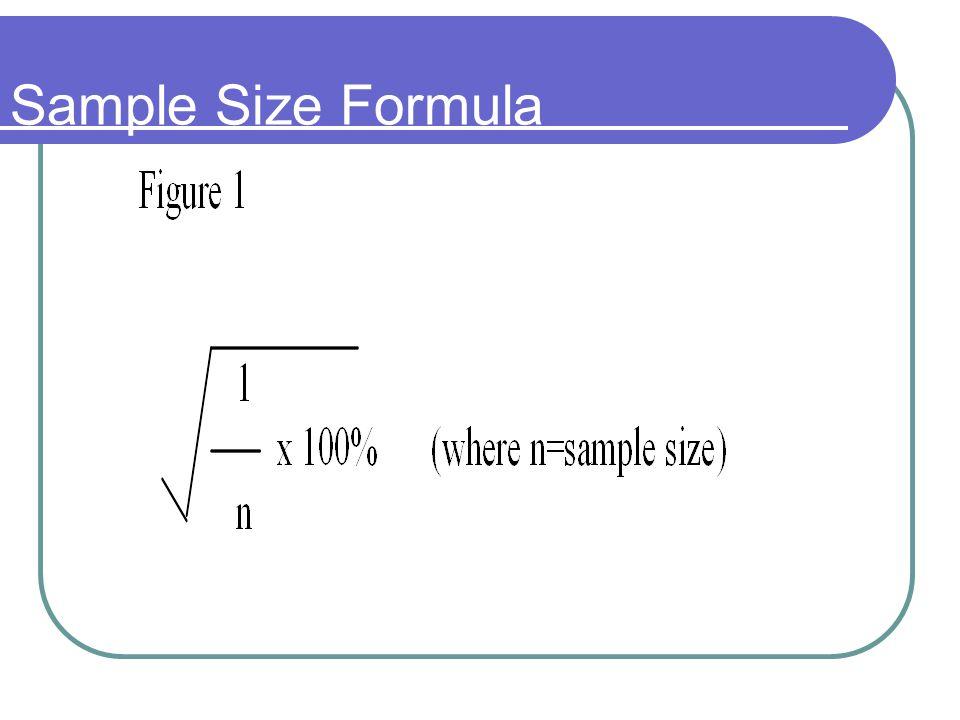 Sample Size Formula