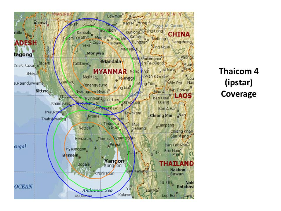 Thaicom 4 (ipstar) Coverage