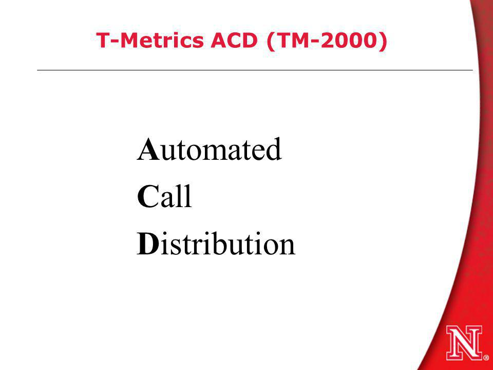 T-Metrics ACD (TM-2000) Automated Call Distribution