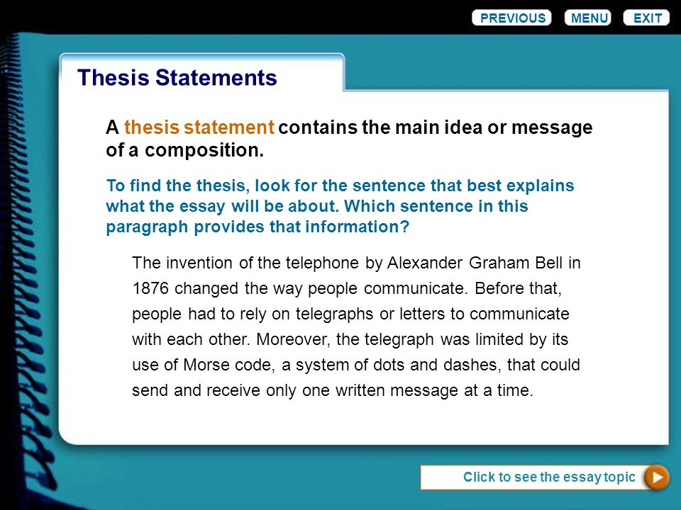 How to find the thesis statement in an essay