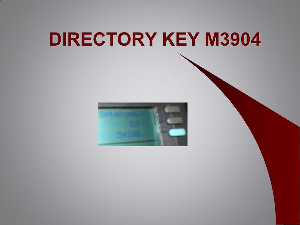 DIRECTORY KEY M3904
