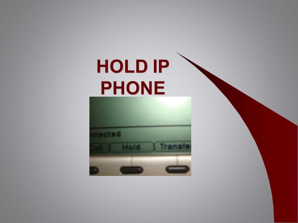 HOLD IP PHONE