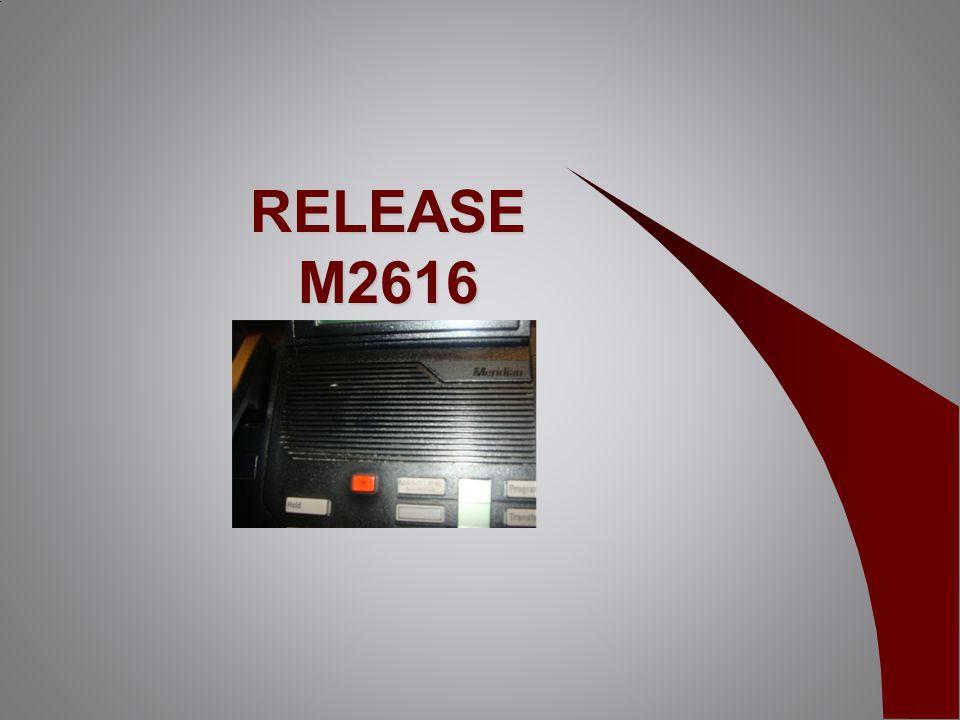 RELEASE M2616 RELEASE M2616