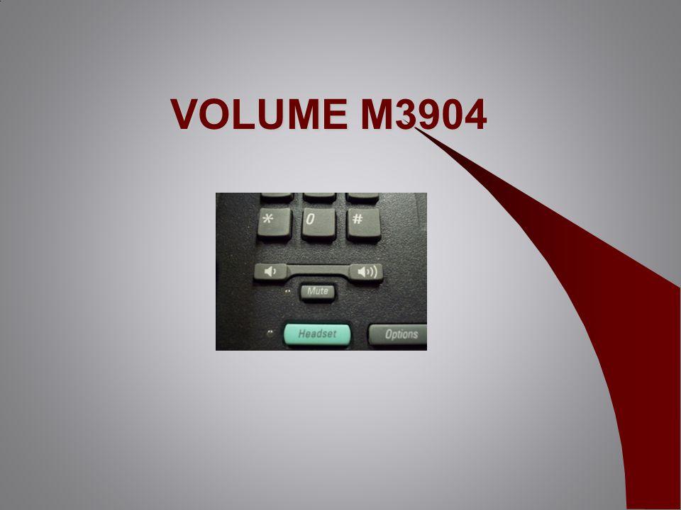 VOLUME M3904