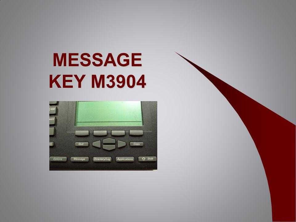 MESSAGE KEY M3904