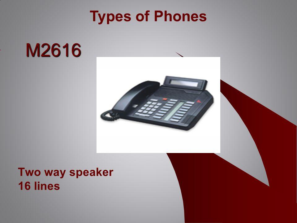 M2616 Two way speaker 16 lines Types of Phones